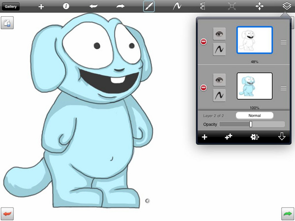 Here's me working on Bill in Sketchbook Pro for iPad: